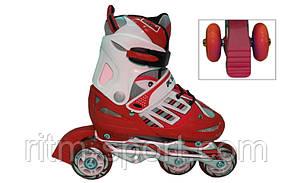 Роликовые коньки раздвижные детские KEPAI F1-F1- Размер 38-41, фото 2