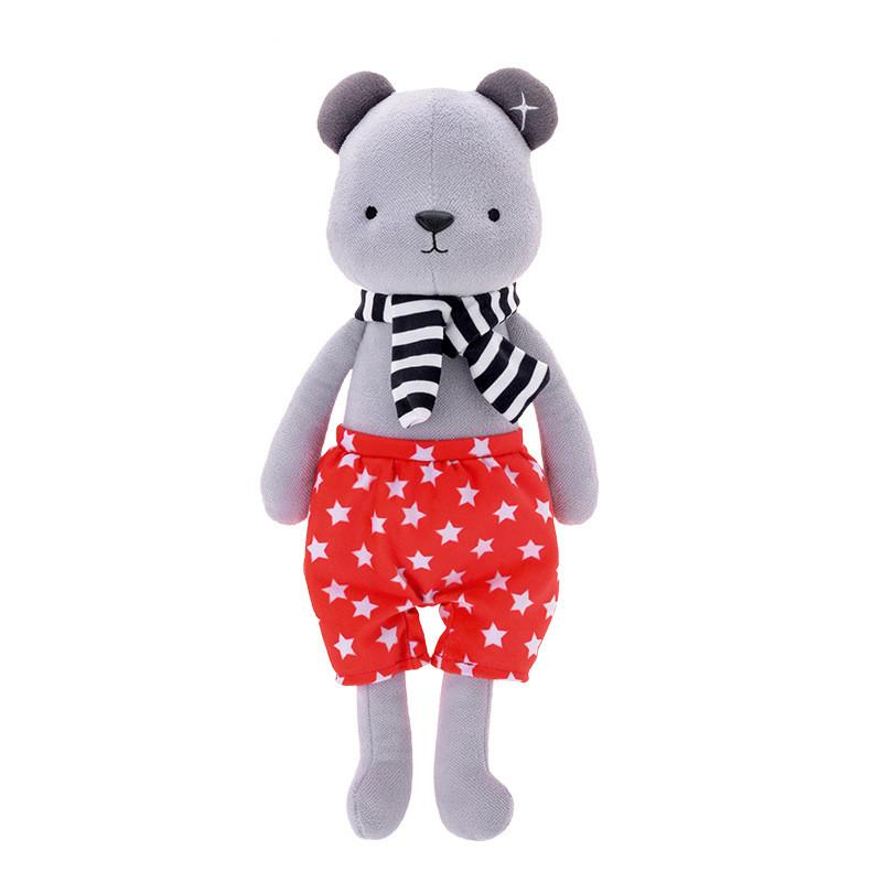 Мягкая игрушка Медвежонок в красных шортах, 35 см Metoys