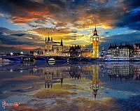 """Фотообои ручной работы """"Ночной Лондон"""""""