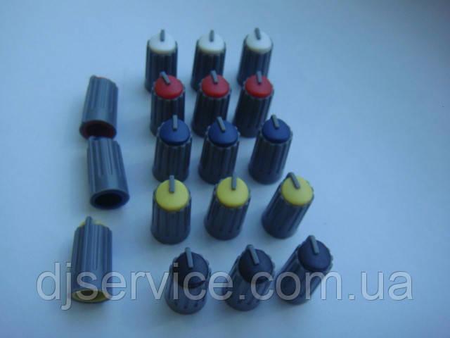Ручка (серая) 18.5x10mm потенциометра для пульта Phonic, Muzon (цветная)