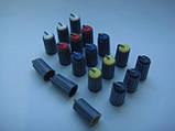 Ручка (серая) 18.5x10mm потенциометра для пульта Phonic, Muzon (цветная), фото 3