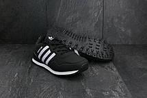 Кроссовки A 1807-1 (Adidas Haven Collegiate) (весна-осень, мужские, кожзам, черный-белый), фото 2