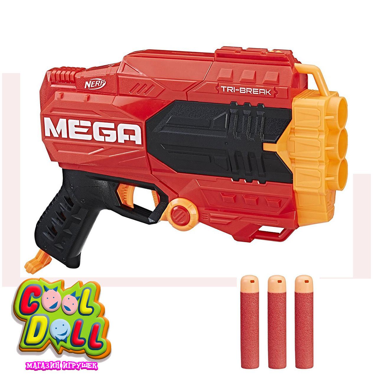 Бластер Нёрф Мега Три-Брейк Nerf N-Strike Mega Tri-Break