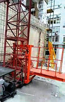 Висота підйому Н-83 метрів. Щогловий підйомник вантажний, будівельні підйомники на 750 кг., фото 2