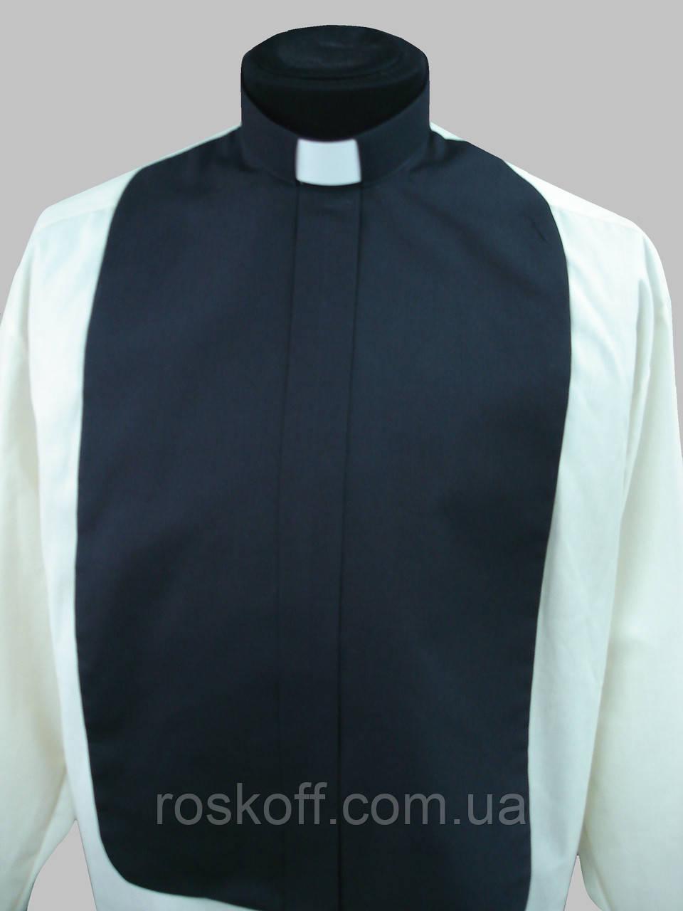 Манишка для священника черного цвета