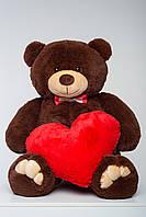 М'який плюшевий ведмедик 130 см з сердечком