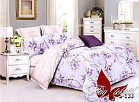 Комплект постельного белья с компаньоном S-133 семейный (TAG satin (sem)-133)