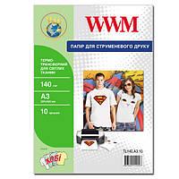 Термотрансфер wwm для светлых тканей 140г/м кв, a3, 10л (tl140.a3.10)