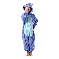 Детская пижама Кигуруми Стич синий 130 (на рост 128-138см) 33e557312c4d8