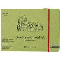 Альбом для акрила и масла Smiltainis Authentic (Drawing) А5 (24,5*17,6см) 290г/м2 8л белая бумага 5PB-8ST/OA