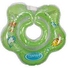 Круг для купання немовлят КВІТОЧКА LN-1561 зелений ТМ Ліндо