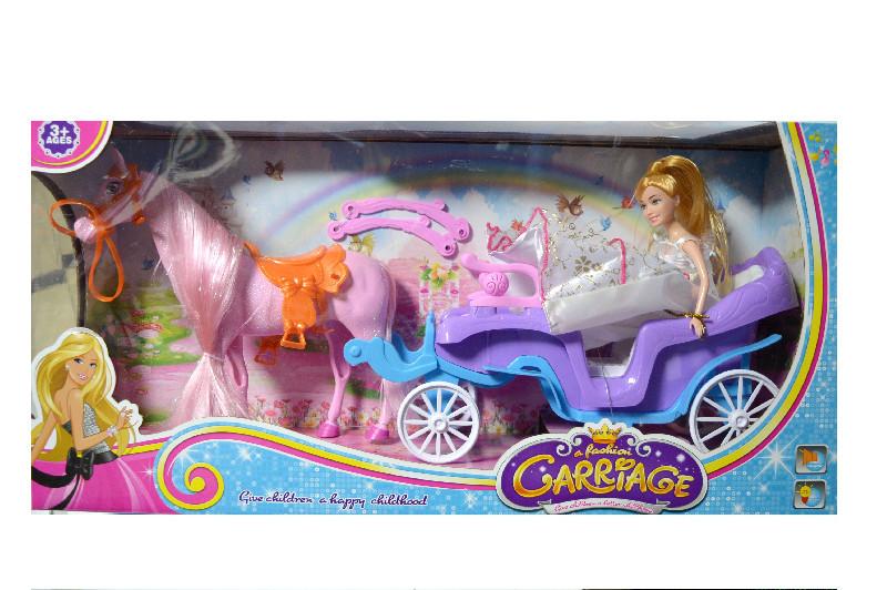 Карета 686-700 з конем 5см, лялька 28см, в коробці: 61-16-30см
