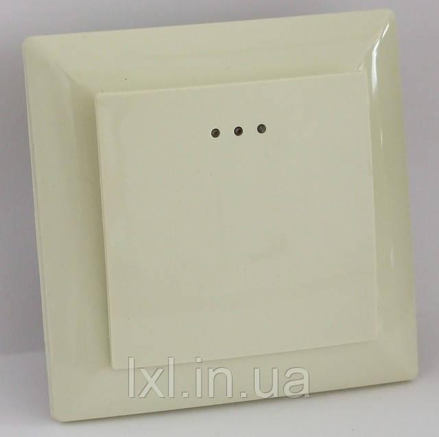 Выключатель с подсветкой (белый, крем) LXL ULTRA