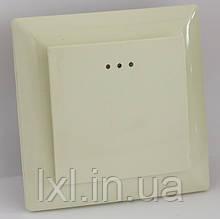 Вимикач з підсвічуванням (білий, крем) LXL ULTRA
