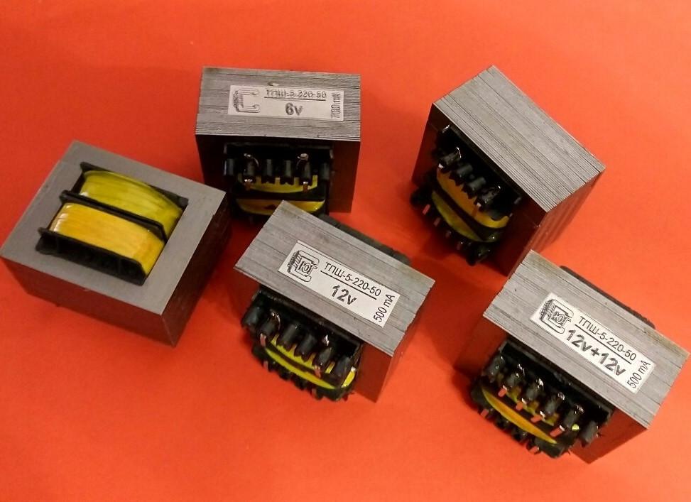 Трансформатор ТПШ-5-220-50 3В,6В,9В,12В, 2Вт, 0,16А