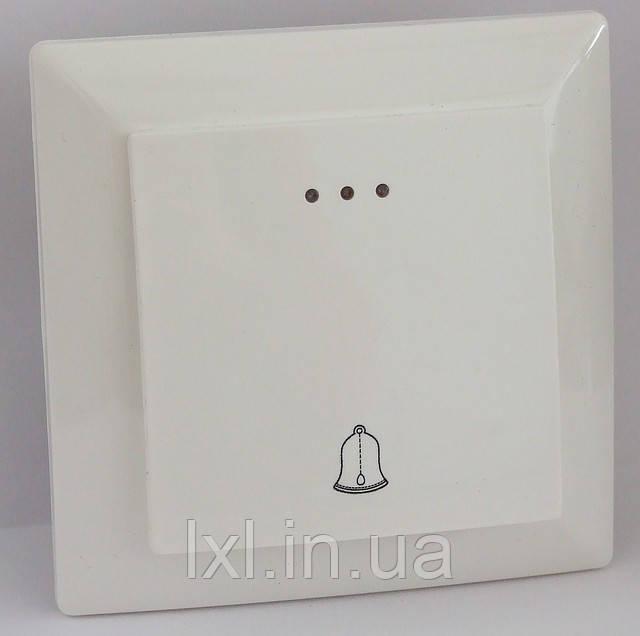 Кнопка звонка с подсветкой (белый, крем) LXL ULTRA
