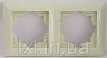 LXL ULTRA Рамка 2 місця (білий, крем)