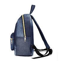 Городской джинсовый мини рюкзак, фото 2