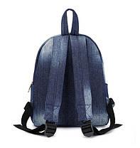 Міський джинсовий міні рюкзак, фото 3
