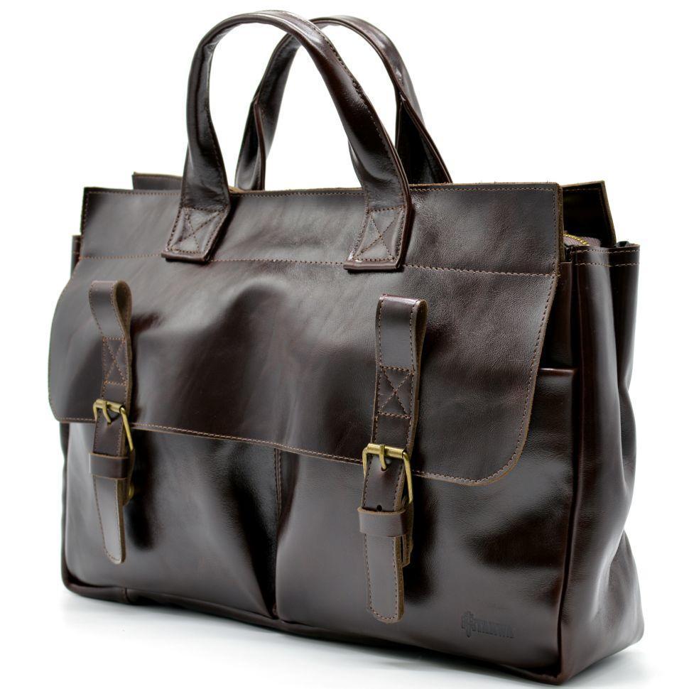 349942102040 Мужская кожаная сумка для документов GX-7107-3md TARWA - Тибериус — магазин  стильных