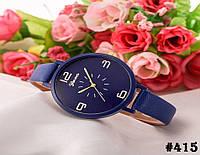 Женские кварцевые наручные часы / годинник Geneva синего цвета (415)