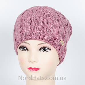 "Женская шапка, ""Моника"" (сирень)"