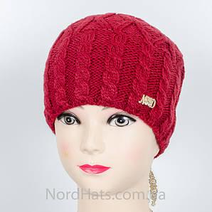 """Женская шапка, """"Моника"""" (бордо)"""