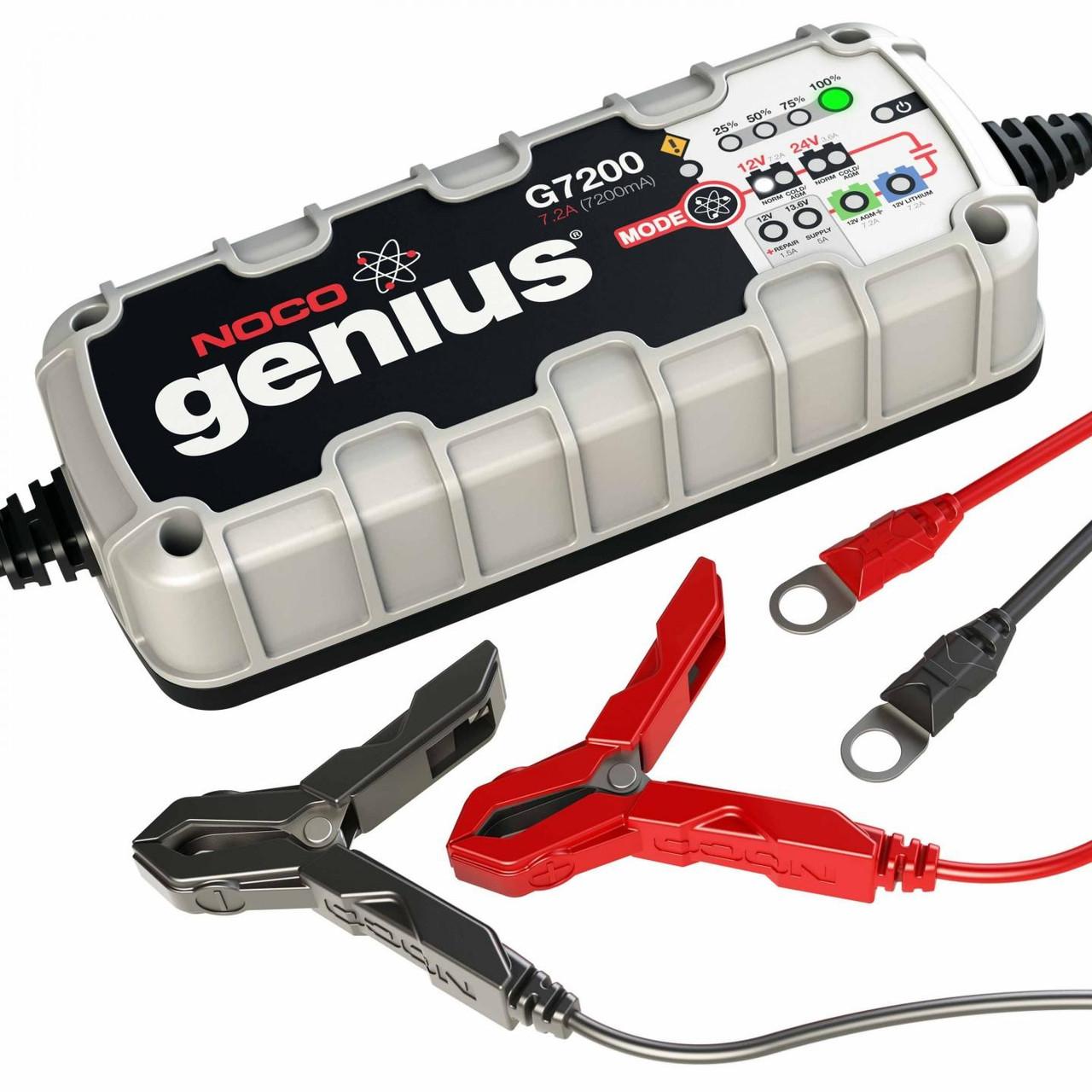 Зарядное устройство для автомобильного аккумулятора NOCO GENIUS G7200EU, IP65, 7,2 А, 132 Вт, гарантия 5 лет