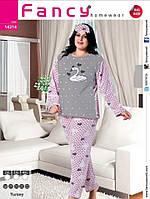 Пижама на флисе с махрой, батал