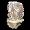 """Світильник сольовий """"Скеля"""" прямий для лазні та сауни"""