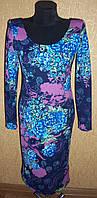 Красивое не дорогое женское трикотажное платье на каждый день с длинным рукавом