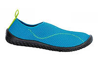 Decathlon 100 KIDS AQUASHOES - LIGHT BLUE, Аквашузы Tribord-Subea 100, голубые