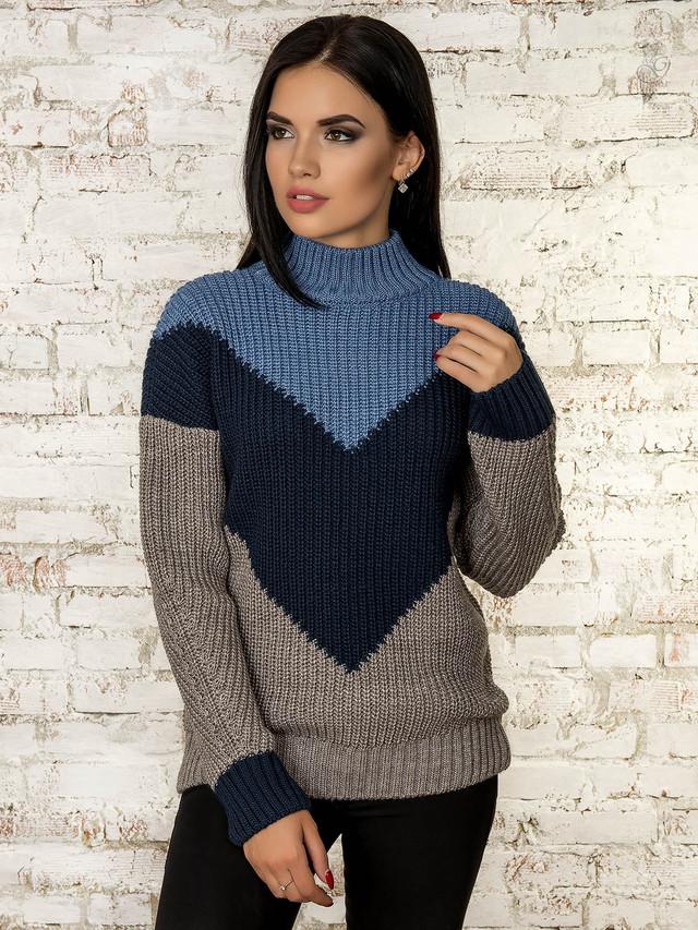 Фото Женского зимнего свитера теплого Кира-1