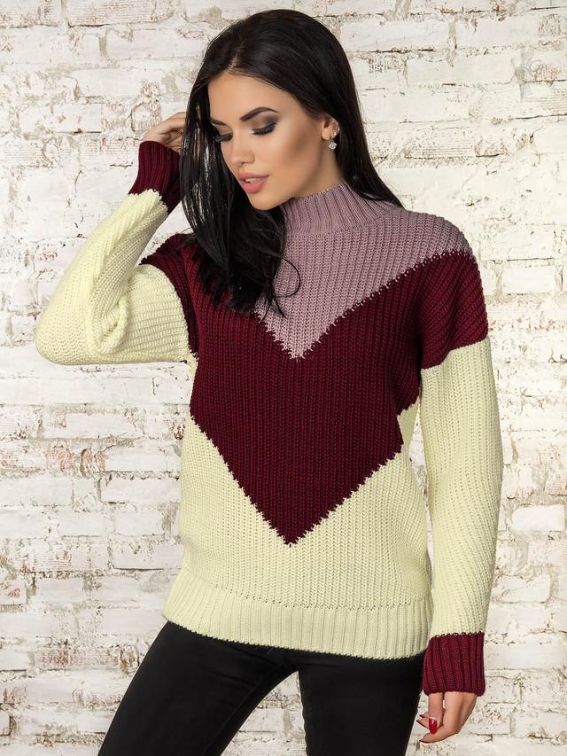 Фото Женского зимнего свитера теплого Кира-3