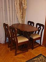Обеденный стол и стулья, столовый гарнитур, стол в гостиную.