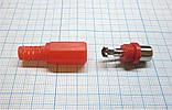 Гнездо RCA (тюльпан), красный, пластик, фото 2