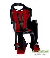 Детское велокресло Bellelli Mr Fox Relax на раму под седлом Черно-красный