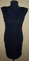 Черное женское вечернее платье с паеточками