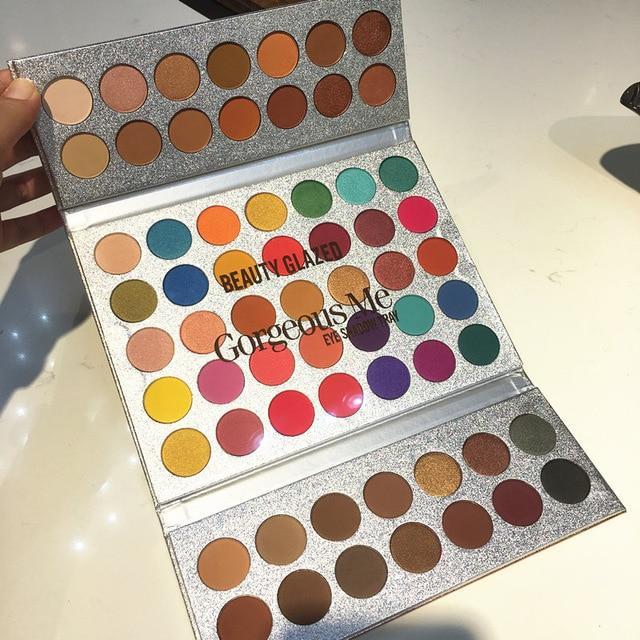 Beauty Glazed Gorgeous Me Eyeshadow Palette Matte Professional 63 Colors Eyeshadow