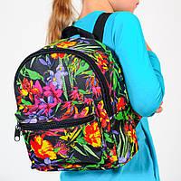 Детский рюкзак с цветочным принтом