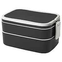 FLOTTIG Обідня коробка, чорна, біла