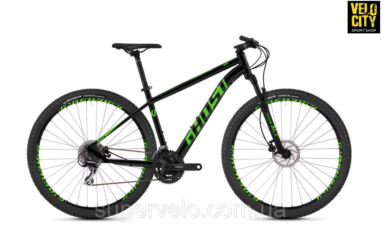 """Велосипед Ghost Kato 2.9 29"""" 2019 черно-зеленый, фото 1"""