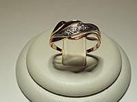 Милое золотое кольцо со вставками циркония 585* пробы