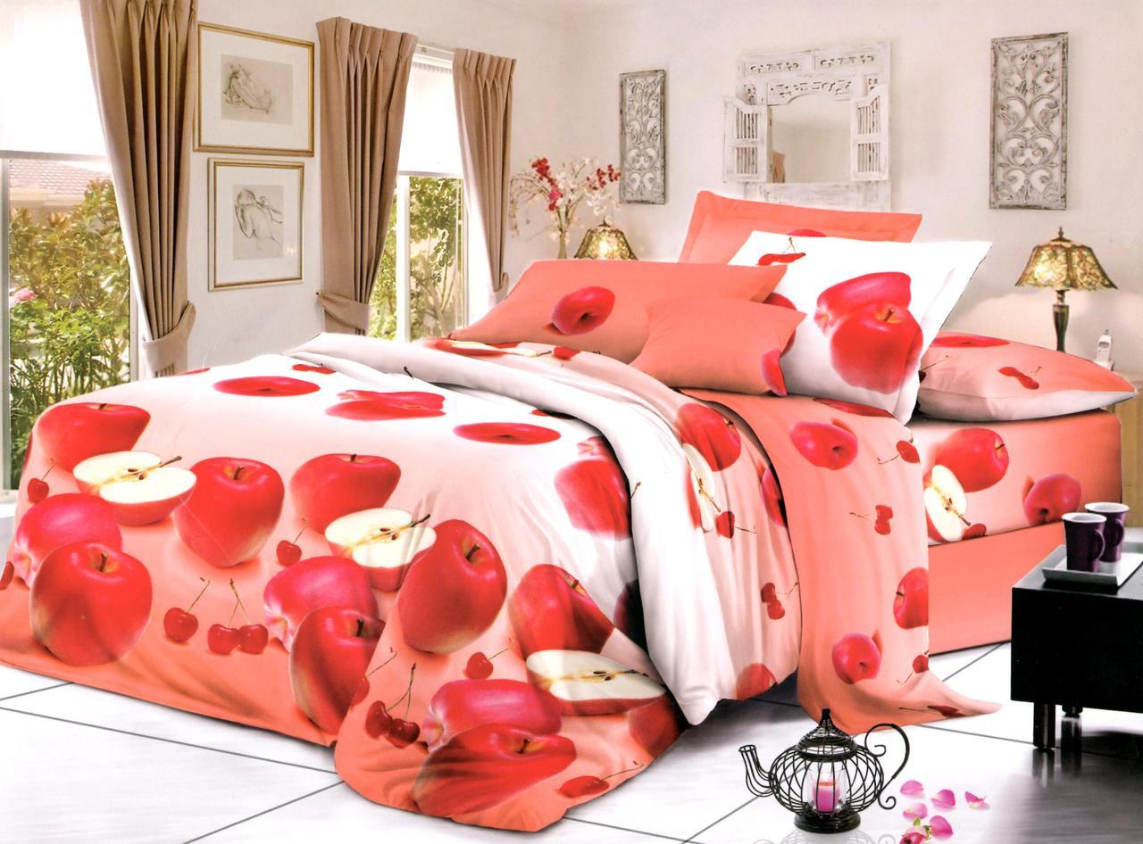 Двуспальный набор постельного белья 180*220 из Ранфорса №419 Черешенка™