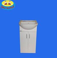 Тумба для Ванной Комнаты Galaxy Вега Эконом 50, 55 с умывальником Вега 50, Аква 55