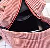 Рюкзак женский мини сумка CONEED вельветовый Розовый, фото 8