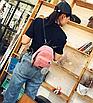 Рюкзак женский мини сумка CONEED вельветовый Розовый, фото 2
