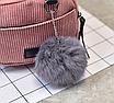 Рюкзак женский мини сумка CONEED вельветовый Розовый, фото 7