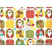 Новогодняя бумага для упаковки подарков «Новый год» 10шт