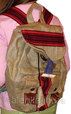 Рюкзак из мешковины  в этническом стиле , Украина, фото 1